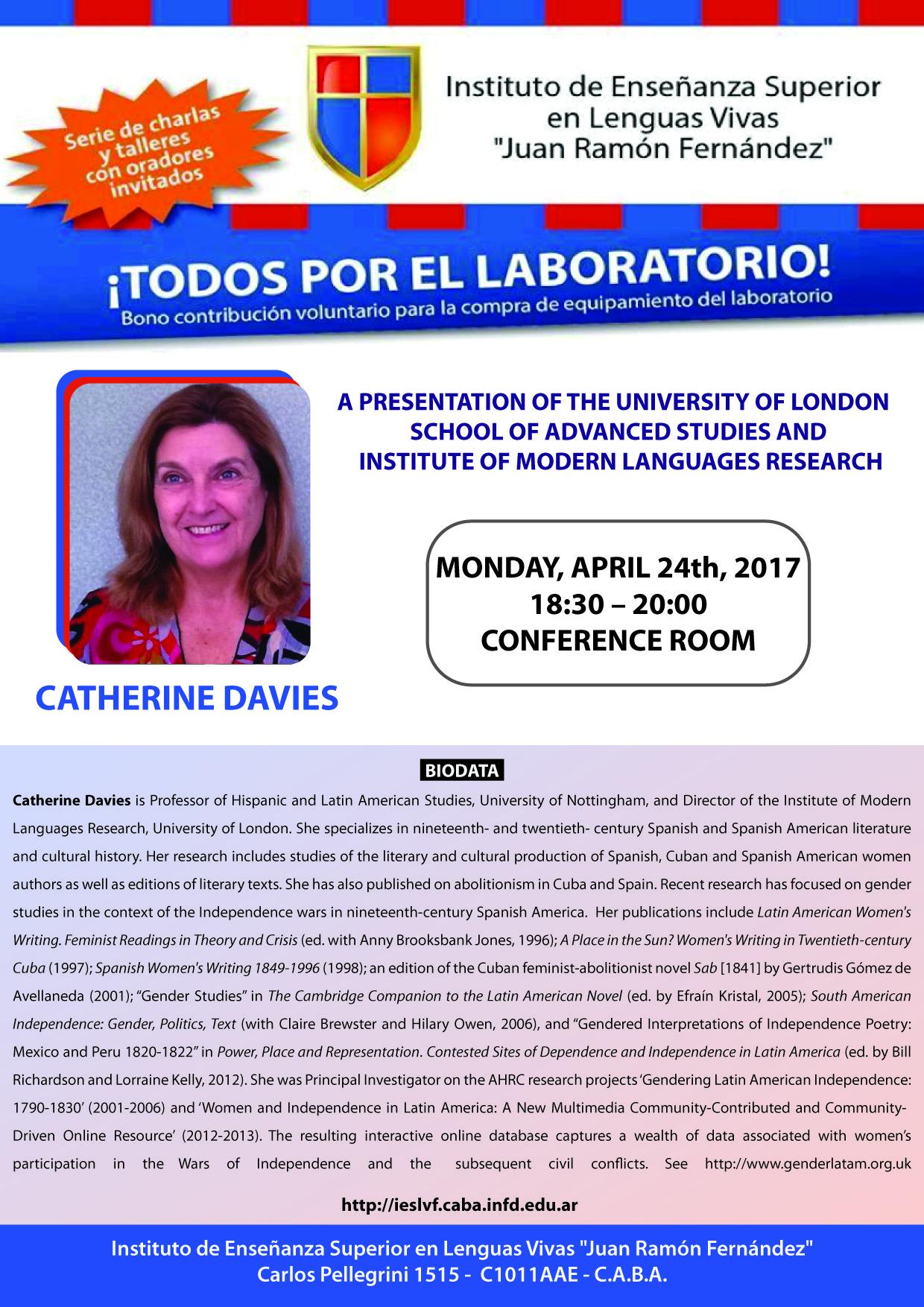 1. Catherine Davies_24 de abril_salon de conferencias